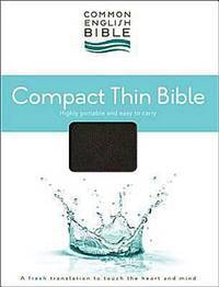 CEB Common English Compact Thin Bible Bonded EcoLeather Black