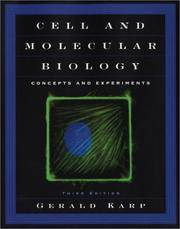 Cell and Molecular Biology: Concepts and Experiments (Book with CD-ROM) by Gerald Karp - Hardcover - from Better World Books  and Biblio.com