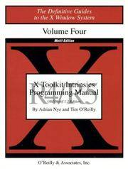 X Toolkit Intrinsics Prog  Vol 4M: Motif Edition (Definitive Guides to the X Window System)