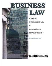 image of Business Law: Ethical, International, & E-Commerce Environment 4th Edition
