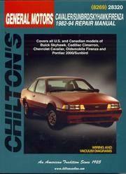 GM Cavalier, Sunbird, Skyhawk, and Firenza, 1982-94 (Chilton Total Car Care Series Manuals)