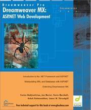 Dreamweaver MX: ASP.NET Web Development