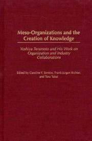 Meso-Organizations and the Creation of Knowledge: Yoshiya Teramoto and His Work on Organization...