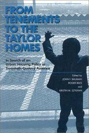 From Tenements to the Taylor Homes: In Search of an Urban Housing Policy in Twentieth-Century America by  Kristin M. (editors)  Roger; Szylvian - Paperback - 2000 - from House of Our Own and Biblio.co.uk