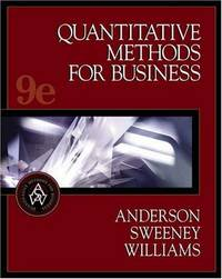 Quantitative Methods for Business, with CD-ROM, 9th edition by Thomas A. Williams - Hardcover - 2003 - from Hizbooks and Biblio.com