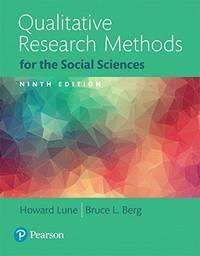 Qualitative Research Methods for the Social Sciences, Books a la Carte