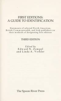 image of First Editions: A Guide to Identification