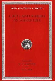 Cato and Varro: On Agriculture (Loeb Classical Library No. 283) by Cato - Hardcover - from Bonita (SKU: 0674993136.X)