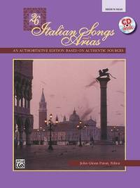 26 Italian Songs and Arias: Medium High Voice, Book & CD