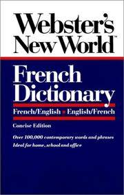 Webster's New World French Dictionary/French/English-English/French