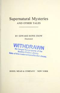 SUPER-NATURAL MYSTERIES. And Other Tales.