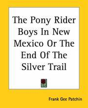 The Pony Rider Boys In New Mexico Or, the End Of the Silver Trail