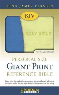 KJV Personal Size Giant Print Reference Bible, Blue/Green (Imitation Leather)