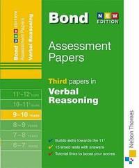 Bond Papers in Verbal Reasoning 9-10 years: Third Papers in Verbal Reasoning 9-10 Years (Bond...