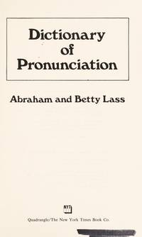 Dictionary of Pronounciation