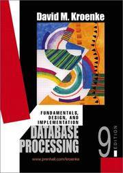 image of Database Processing: Fundamentals, Design, And Implementation, 9th