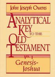 Analytical Key to the Old Testament, vol. 1  Genesis-Joshua