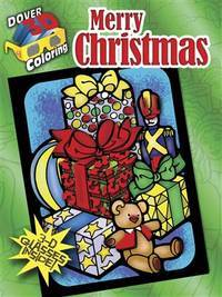 MERRY CHRISTMAS: 3-Dimensional Coloring Book (O)