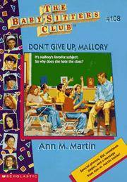 image of Don't Give Up, Mallory (Baby-sitters Club)