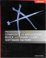 image of Programming Microsoft Composite UI Application Block and Smart Client Software Factory (Developer Reference)