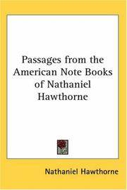 image of Passages from the American Note Books of Nathaniel Hawthorne