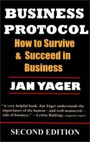 Business Protocol - 2nd edition by Jan Yager - Paperback - September 2000 - from Colorado's Used Bookstore, Inc.  (SKU: 338111)