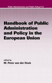 HANDBOOK OF PUBLIC ADMINISTRATION AND POLICY IN THE EUROPEAN UNION (PUBLIC ADMINISTRATION AND...
