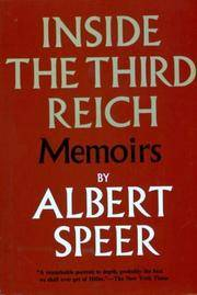 Inside the Third Reich by Albert Speer - Hardcover - 1970-01-01 - from Books Express and Biblio.com