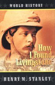 image of How I Found Livingstone