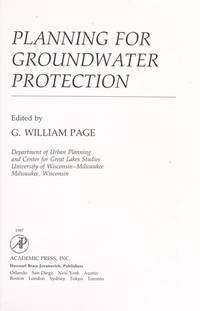 Planning for Groundwater Protection