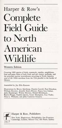 Harper & Row's Complete Field Guide to North American Wildlife