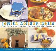 Jewish Holiday Treats  Recipes and Crafts for the Whole Family