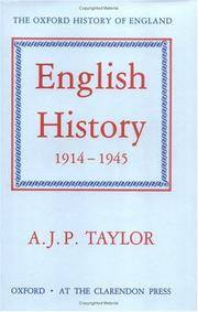 English History 1914 - 1945