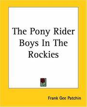 The Pony Rider Boys In the Rockies