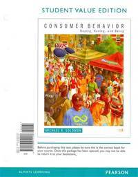 image of Consumer Behavior: Buying, Having, and Being, Student Value Edition (11th Edition)