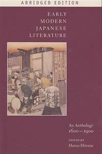 EARLY MODERN JAPANESE LIT.,ABRIDGED ED.