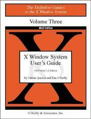 X Window System User's Guide Vol. 3