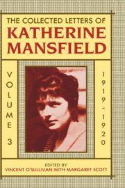 image of The Collected Letters of Katherine Mansfield: Volume III: 1919-1920