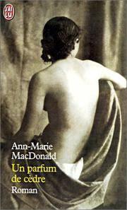 image of UN Parfum De Cedre (French Edition)