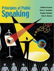 Principles of Public Speaking by Bruce E Gronbeck - Paperback - from Cold Books and Biblio.com