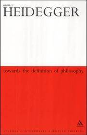 image of Towards the Definition of Philosophy (Continuum Impacts)