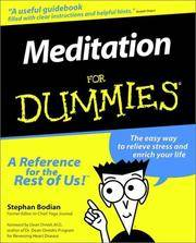 MEDITATION FOR DUMMIES by  Foreword) Stephan Bodian; (Dean Ornish - Paperback - First Edition, 6th Printing - 1999 - from 100 POCKETS and Biblio.com
