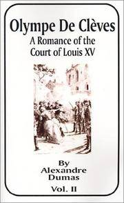 image of Olympe De Cleves: Book 2