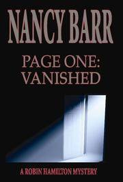 Page One: Vanished: A Robin Hamilton Mystery