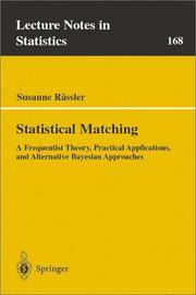 image of Statistical Matching: A Frequentist Theory, Practical Applications, and Alternative Bayesian Approaches (Lecture Notes in Statistics)