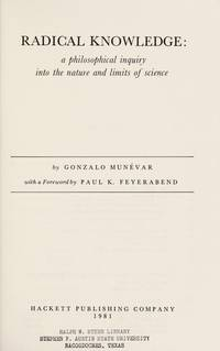 Radical knowledge; a philosophical inquiry into the nature and limits of space. With a foreword...