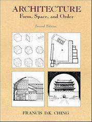 Architecture: Forms, Space, and Order - Second Edition by  Francis D.K Ching - Paperback - 2nd - 1996 - from The Old Library Bookshop and Biblio.com