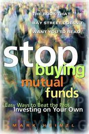 Stop Buying Mutual Funds  Easy Ways to Beat the Pros Investing on Your Own
