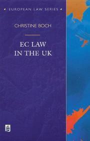 EC Law in the UK (European Law Series)
