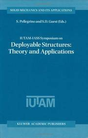 IUTAM-IASS Symposium on Deployable Structures: Theory and Applications: Held in Cambridge, UK,...